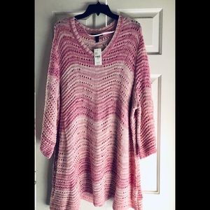 👚 Lane Bryant Crocheted look sweater 👚
